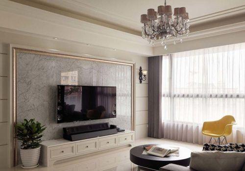 大气欧式客厅背景墙装修设计
