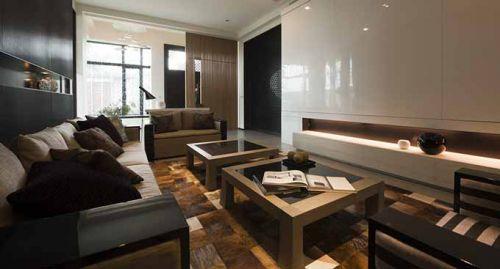 现代厚重客厅装修效果图