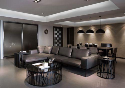 现代风格灰色客厅设计图片