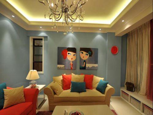 现代风格可爱创意客厅效果图