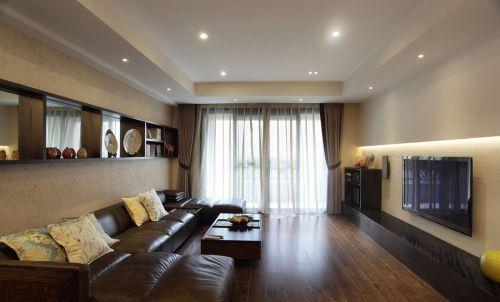 现代风格大气米色客厅装修效果图片