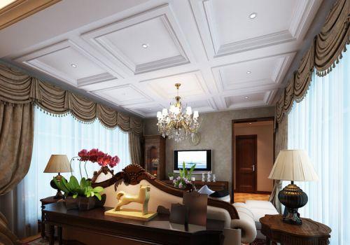 方形欧式客厅吊顶设计