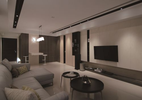 2016灰色时尚现代风格客厅装修布置
