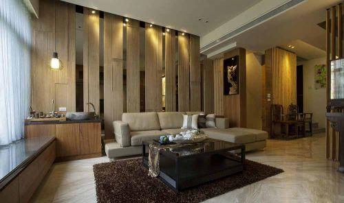 现代原木素材客厅装修图片精选