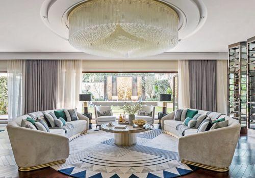 气势磅礴欧式客厅吊顶设计