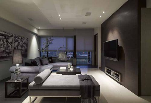 高端现代客厅装潢设计