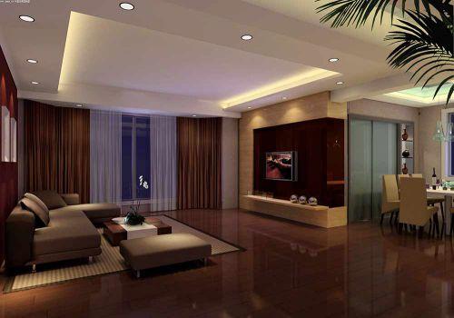 深沉现代风格精致客厅装修