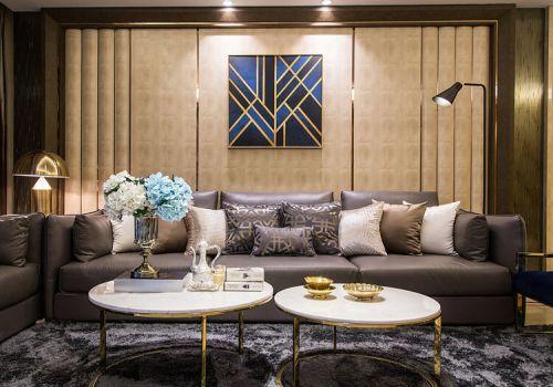 条纹欧式沙发背景墙设计