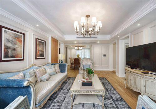 优雅欧式风格客厅装修图片