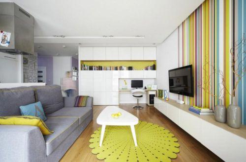 清新现代风格客厅创意装修