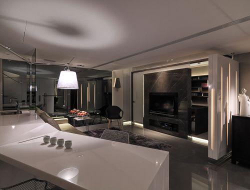 2016大气灰色现代风格客厅装潢设计