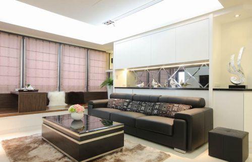现代黑白客厅装修图