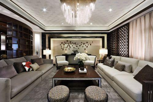 都市凝练时尚现代风格客厅装潢设计案例