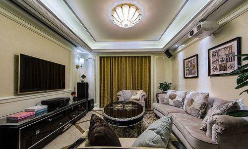 欧式米色客厅装修效果图