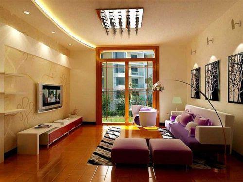 浪漫温馨现代风格客厅装修案例