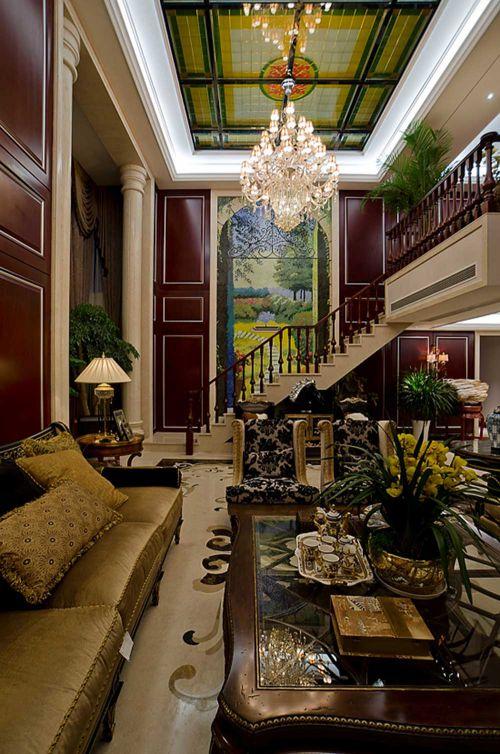 奢华欧式风格客厅装修案例