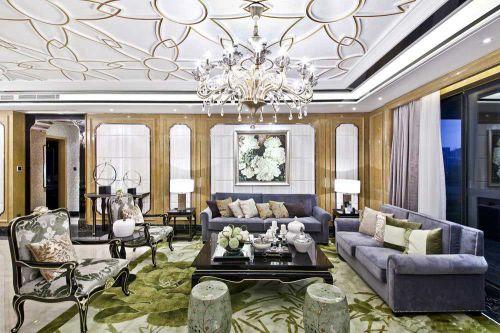 欧式美轮美奂客厅装潢布置