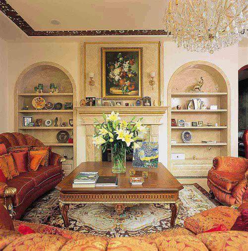欧式温馨客厅装修效果图