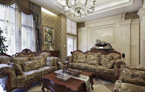 精致华丽欧式宫廷风格客厅装修