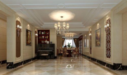 黄色欧式风格客厅装潢案例