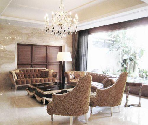 雅致浪漫精致欧式风格客厅效果图