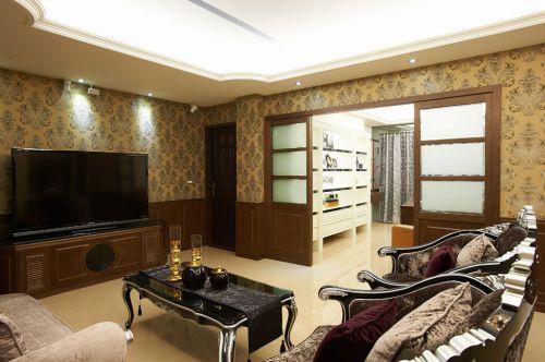 2016华丽典雅欧式风格客厅设计装潢