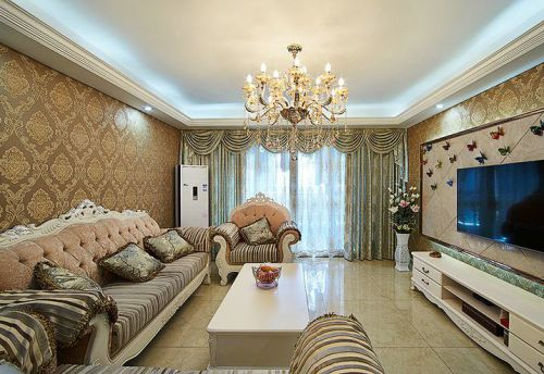 欧式古典浪漫客厅装潢装修设计