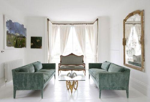 白色欧式客厅沙发装修效果图