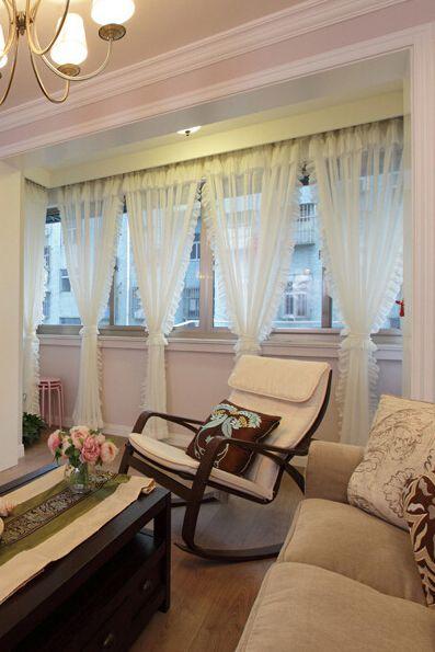 欧式客厅窗帘效果图2015