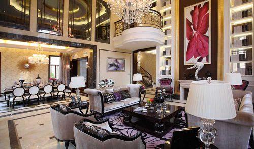2016时尚欧式别墅客厅装潢