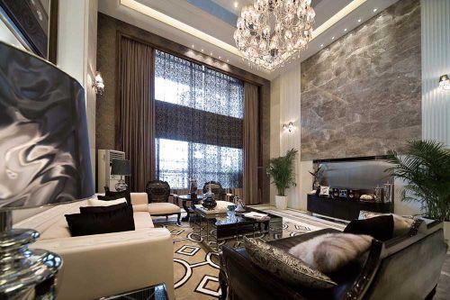 华丽欧式别墅客厅装潢案例