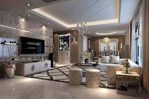 欧式客厅装潢设计