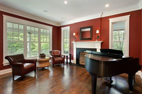 红色雅致欧式风格客厅装潢设计2016