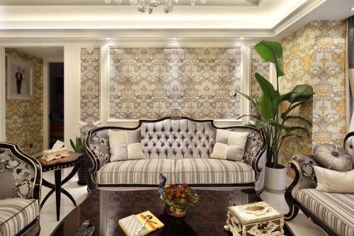 米色欧式风格客厅装修图片