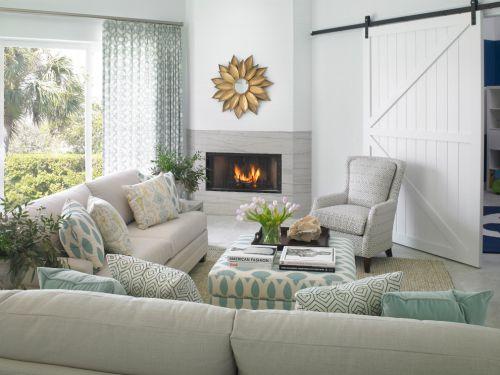 欧式风格绿色客厅装修效果图