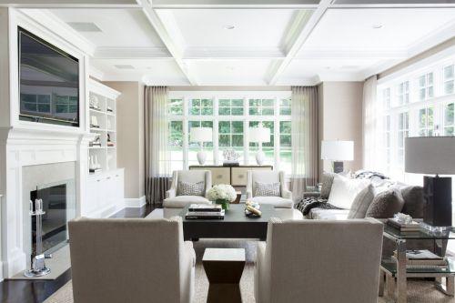 白色欧式风格客厅效果图欣赏