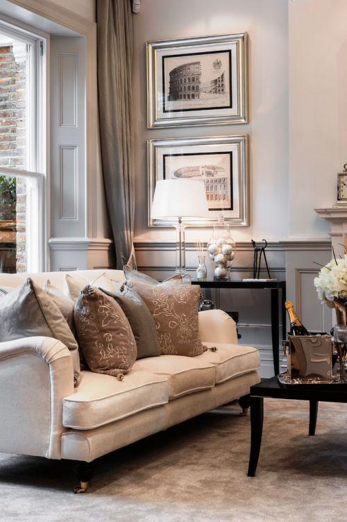欧式风格米色质感客厅效果图欣赏