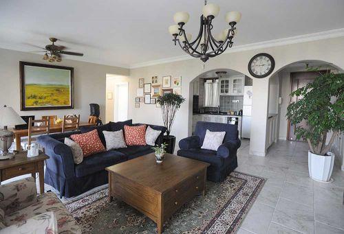 淡雅清新欧式风格客厅装修布置