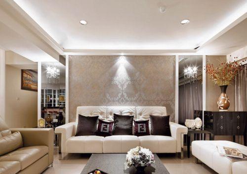 2016欧式风格米色客厅装修效果图