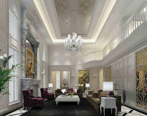 欧式典雅客厅装修效果图