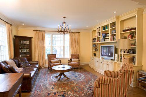 欧式风格田园客厅设计案例