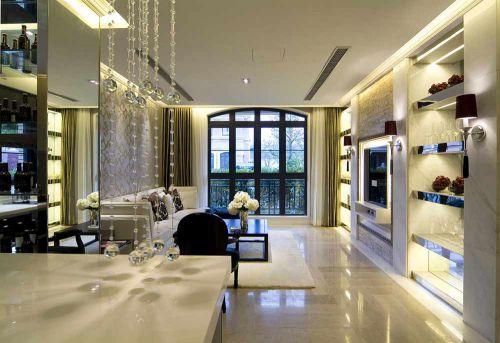 别致清爽欧式风格客厅室内设计
