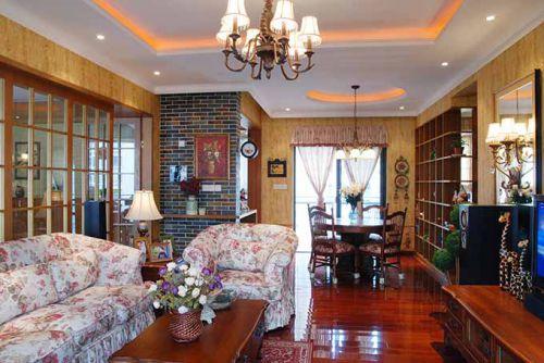 欧式传统客厅装潢设计