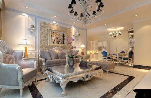 2016欧式米色客厅装潢设计