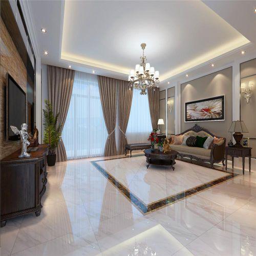 典雅时尚灰色欧式客厅设计赏析