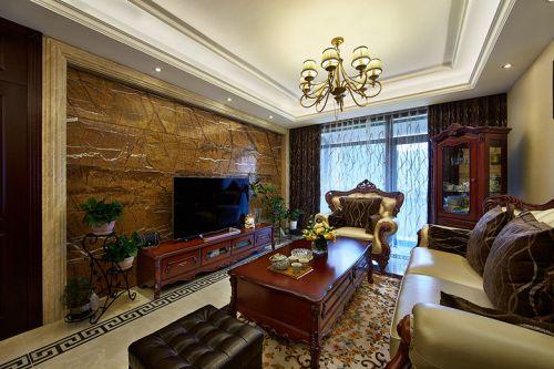 浪漫华丽时尚欧式复古客厅装潢图