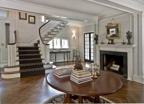 欧式风格浪漫米色客厅装潢设计