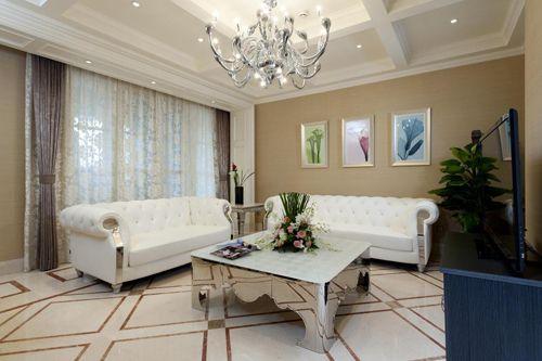 精致欧式风格米色客厅美图欣赏
