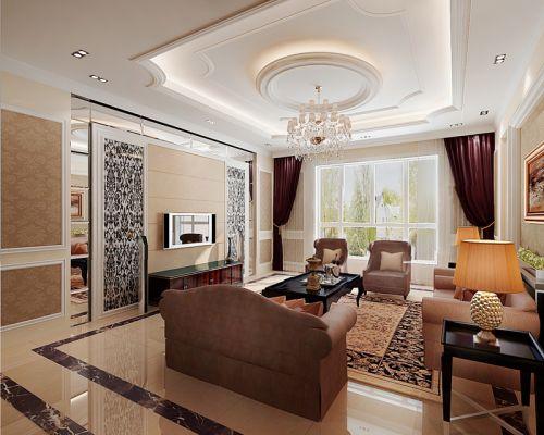 欧式风格客厅装修布置