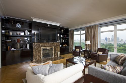 黑色奢华大气欧式风格客厅装饰图